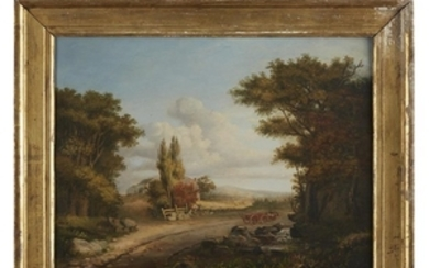 Attributed to George Loring Brown (1814-1889) New England landscape...