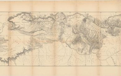 """""""Map of the Country Between Yampa & White Rivers (For General Reference) to Accompany the Report of Gust. R. Bechler"""", Bechler, Gustavus R."""