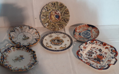 6 PIECE MISC. LOT OF PORCELAIN PLATES