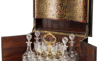 21002: A Napoleon III Boulle-Style Marquetry Cave &#x00