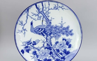 Blue-white plate/bow