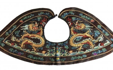 EMBROIDERED SILK 'DRAGON' FORMAL COLLAR