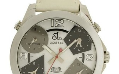 """Jacob & Co. Stainless """"Five Time Zone"""" Watch"""