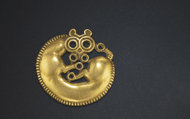 A SMALL GOLD PLAQUE, NORTHEAST CHINA, 6TH-5TH CENTURY BC