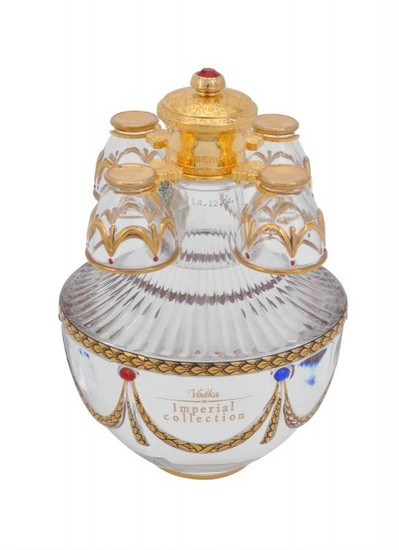 Lot Art Faberge Art S Applied Craft Ltd The Imperial Collection A Gilt Metal And Faux Agate Egg Shaped Decanter Case