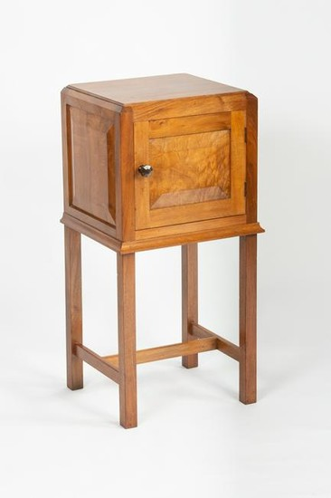 Gordon Russell, a walnut bedside cupboard of square