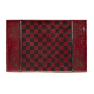Two painted wood game boards late 19th/early 20th century...