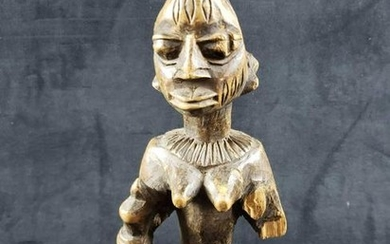 Hand Carved Wooden African Woman Figure Sculpture