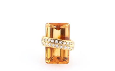 Brillant Citrin Ring
