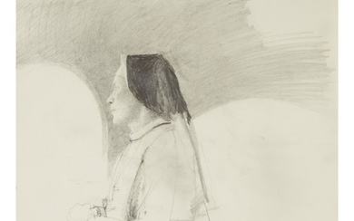 ANDREW WYETH | STUDY FOR 'TRAVELING ALONE'