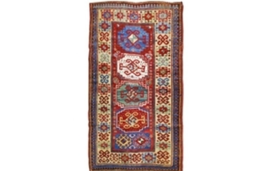 AN ANTIQUE KAZAK RUG, SOUTH CAUCASUS