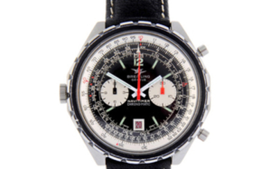 BREITLING - a gentleman's stainless steel Navitimer Chrono-Matic chronograph wrist watch.