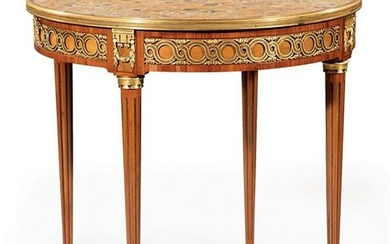 Bronze-Mounted, Kingwood Bouillotte Table