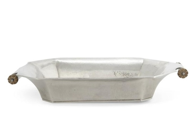 A German Jugendstil silver serving bowl