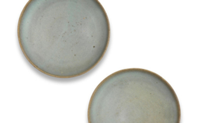 A pair of Junyao glazed dishes