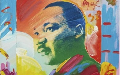 Peter Max Martin Luther King Jr. Acrylic on Canva