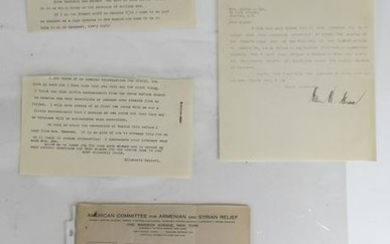 Womens Suffragette Party, Letters, Early 20th C.