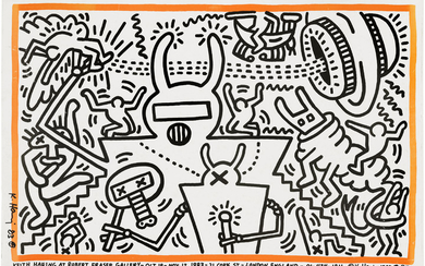 KEITH HARING (1958-1990), Keith Haring at Robert Fraser Gallery 19th Oct-Nov 12 1981