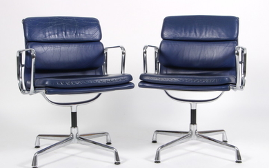 Charles Eames. A pair of Soft Pad armchairs, model EA-208 (2)