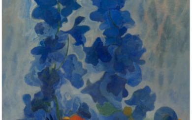 George Grammer (1928-2019), Two Bouquets Delphiniums and Marigolds