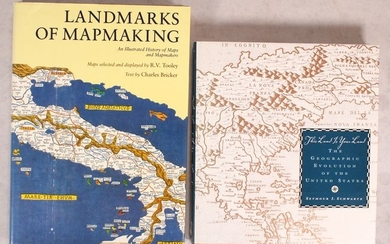 "NO RESERVE, ""[Lot of 2] Landmarks of Mapmaking - An Illustrated Survey of Maps and Mapmaking [and] This Land Is Your Land - The Geographic Evolution of the United States"""