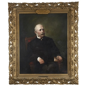 American School 19th century Portrait of William Brantley Hanna...