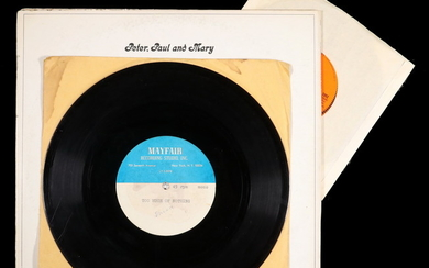 "X-RARE ORIGINAL MAYFAIR STUDIO (NYC) ACETATE OF BOB DYLAN SINGING ""TOO MUCH OF NOTHING"" 1ST RECORDING"