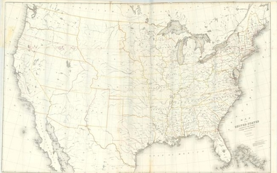 """Map of the United States Exhibiting the Several Collection Districts"", Burr, David H."