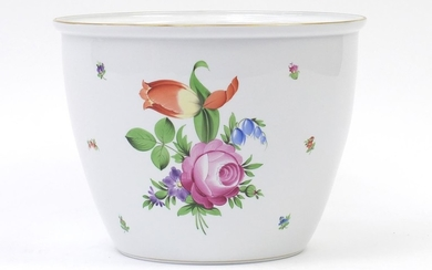 Large Herend of Hungary porcelain planter hand painted with ...