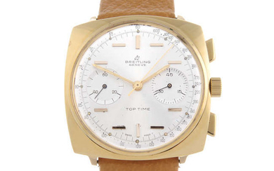 BREITLING - a gentleman's gold plated Top Time wrist watch.