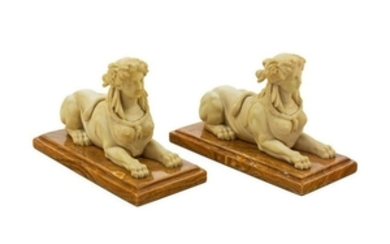 A Pair of Composite Figures of Sphinxes Width