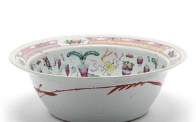 A Monumental Chinese Porcelain Punch Bowl