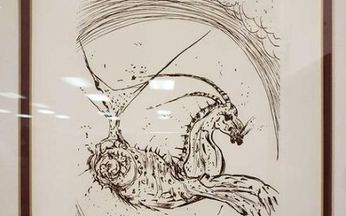 Salvador Dali Capricorn Etching from The Zodiac Suite