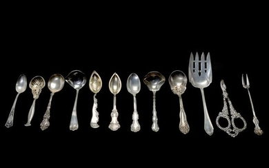 Lot of Various Sterling Silver and Other Flatware.