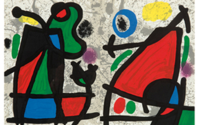 Joan Mir� - Joan Miro: Two pages from Derrière le Miroir