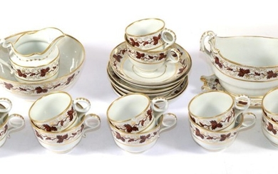 A Barr Worcester Porcelain Tea and Coffee Service, circa 1800,...