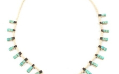 Santo Doming Inlay Tab Necklace