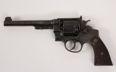 Smith and Wesson N frame blued 10 shot revolver in 22 rimfire