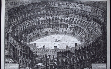 Piranesi, Giovanni: BIRD'S-EYE VIEW OF THE COLOSSEUM, Year 1776.