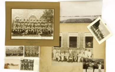 12 Photographs (India & Nigeria): including 2 Large ones of the 1/7th. Rajput Regt. (taken by I. Sequeira