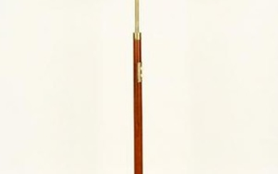 BRASS WOOD FLOOR LAMP MANNER JACQUES ADNET C.1950