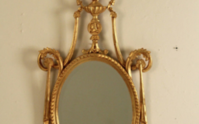 CARVED GILTWOOD CLASSICAL MIRROR