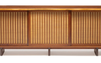 George Nakashima - George Nakashima: Triple sliding door cabinet