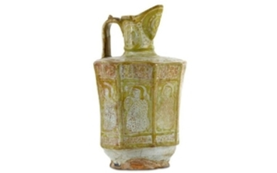 A LARGE COPPER-LUSTRE POTTERY EWER PROPERTY FROM THE