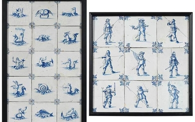 24 Framed Delft Tiles