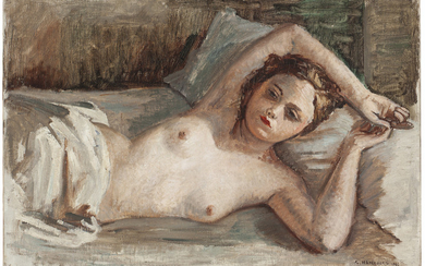 André Hambourg (French, 1908-1999), Nu couchée