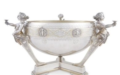 Classical silver and parcel-gilt punch bowl Gorham Mfg. Co.,...
