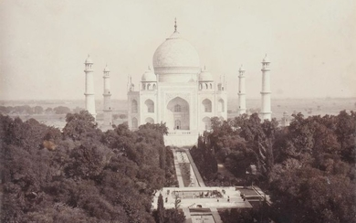 A composed set of sixteen commercial sepia photographs of north India