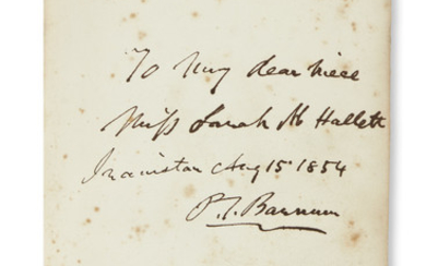 GIFT TO HIS NIECE BARNUM, PHINEAS TAYLOR....