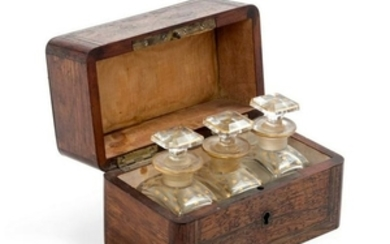 A Mother-of-Pearl Inlaid Rosewood Box 19TH CEN